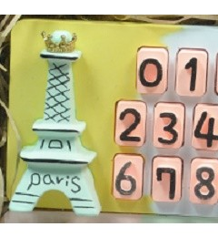 주차 번호판 세트_에펠탑 PARKING PLATE FOR CELLPHONE NUMBER_EIFFEL TOWER